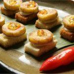 Receita: Canapé de banana-da-terra, do restaurante Brasil a Gosto